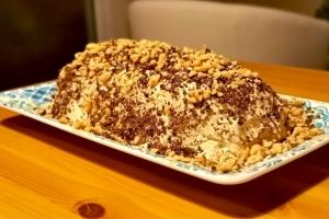 pound cake σοκολάτα με frosting φυστικοβούτυρου του άκη